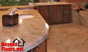 Give your bathroom a new look with Granite counter tops from Beyond Floors.Net.